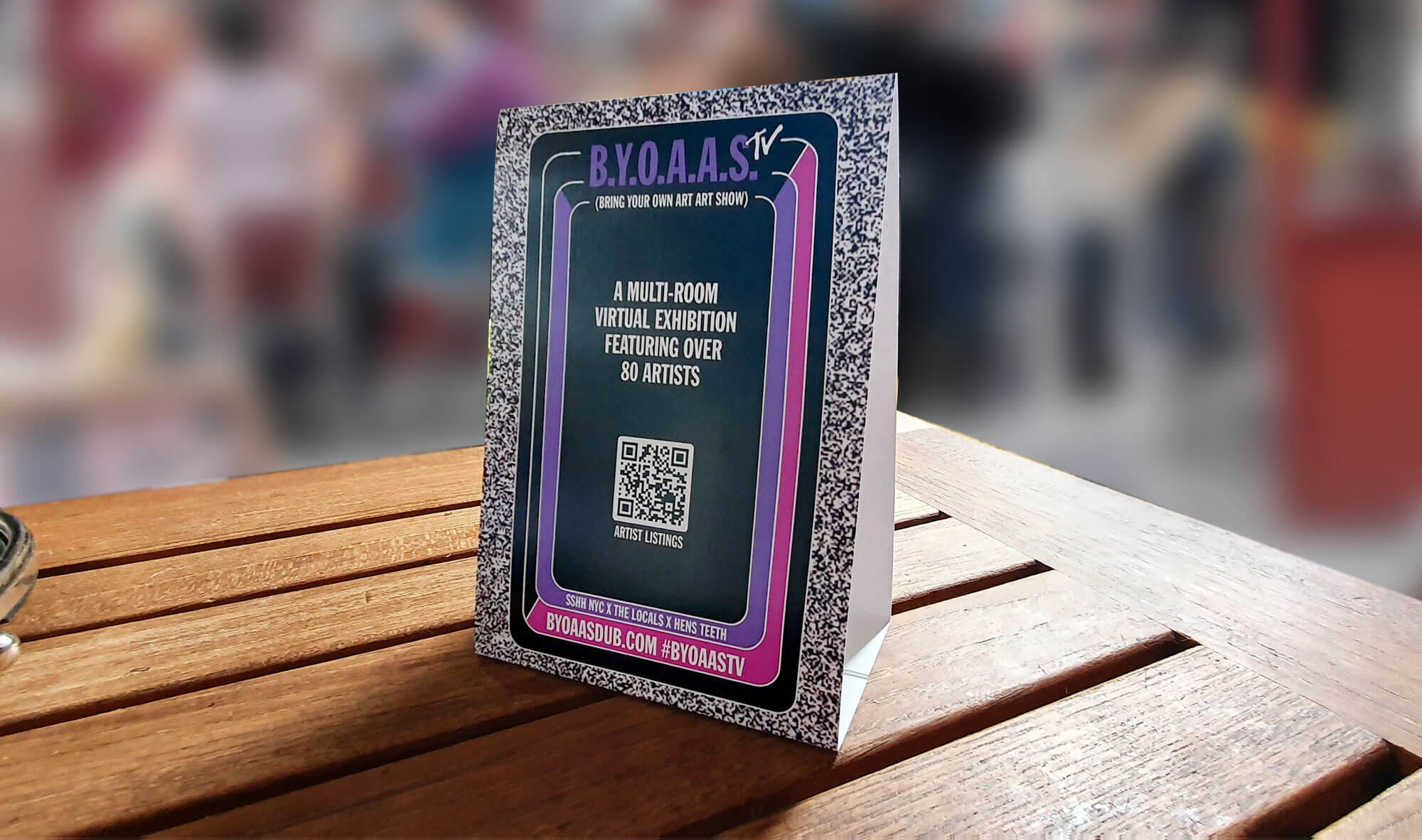 BYOAAS TV TENT CARD
